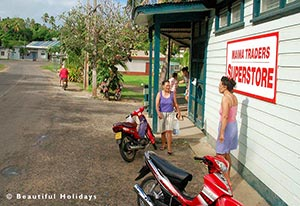 shop at arutanga village in aitutaki