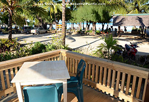 veranda view at samade on the beach